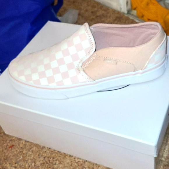 Vans Shoes   Sepia Rose Checkerboard